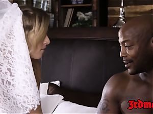 blond bride Zoey Monroe taking a slot gigantic knob