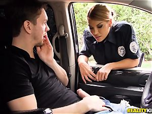 Police officer Mercedes Carrera lets Markus off as she is ultra-kinky today