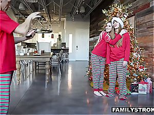 Niki Snow gets a nailing for Christmas from her parent