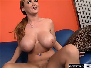 round titted Sophie Dee gets a lengthy rigid chisel