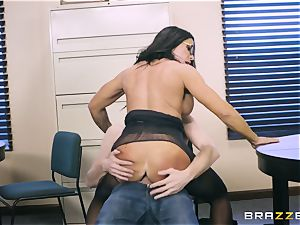 40-year-old secretary Simone Garza tempts her youthfull manager Danny D