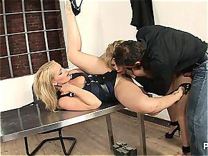 Interrogation gone threesome