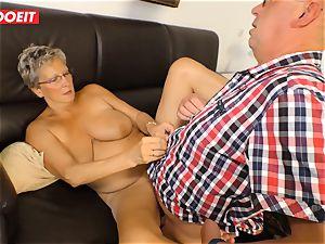 German granny enjoys banging her Neighbor #LETSDOEIT