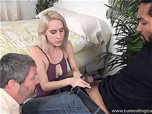 Cadence Lux Makes vulva hubby munches boys jizm