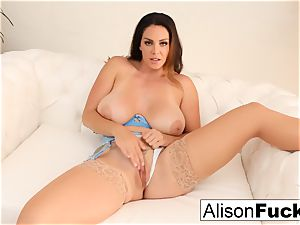 Alison Tyler gropes her snatch