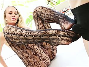 busty Nicole Aniston takes a cock deep in her raw beaver