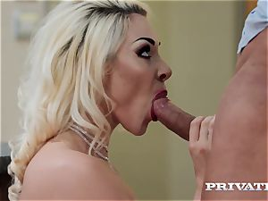 Private.com big-titted Victoria Summers fucks in stockings