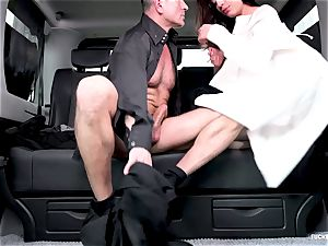 smashed IN TRAFFIC - sizzling Czech puny gets penetrated in car