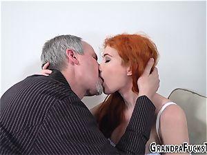 Ginger nubile plows gramps