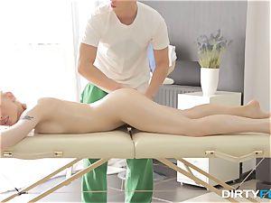 filthy Flix - hookup on a folding rubdown table
