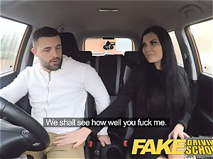 faux Driving college Jasmine Jae totally naked hump in car