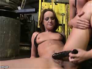Andy dark-skinned and Kathia Nobili frolicking with fuck stick