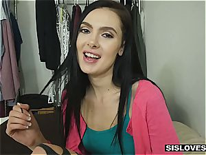 spectacular Marley learns how to fuckfest her beau from her step bro
