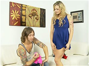 doggystyle screwing and behind the scenes fun with Dahlia Sky