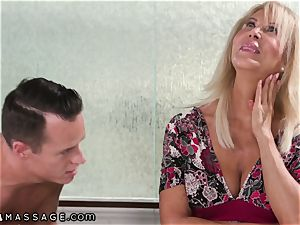 Mature mother Joins in Stepson's Nuru rubdown
