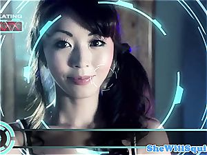 chinese porno star Marica Hase gets a tub facial cumshot