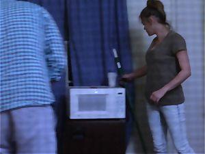 Brianna dark-skinned caught on spy web cam as she nails