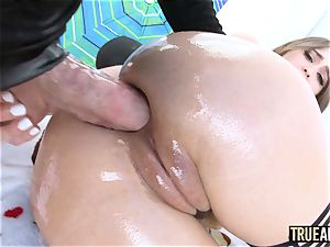 TRUE rectal Riley Reid has her arse munched then ravaged