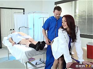 beautiful physician Monique Alexander nails her trainee