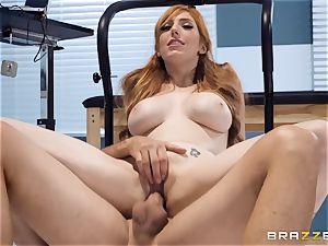 Redheaded ultra-cutie Lauren Phillips is on fire