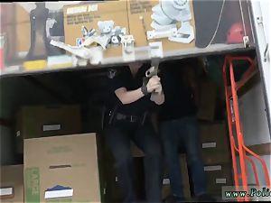milky chick de-robe fuck dark-hued suspect taken on a tough rail