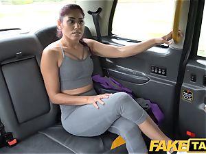 fake cab Sahara gets a rock-hard jizz-shotgun exercise