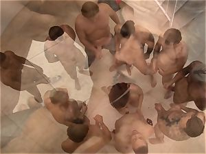 ten firm thick dicks and their jizz all for this super-cute doll Chanel Preston