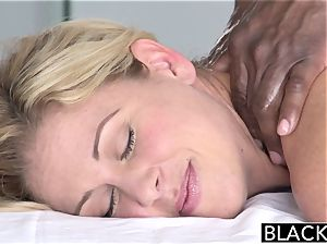 BLACKED scorching Southern blonde Takes phat ebony cock