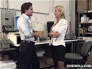 SheWillCheat - huge-chested mummy chief plumbs fresh employee