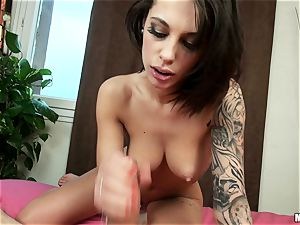 Nikita Belluci takes her dude home for their very first rectal