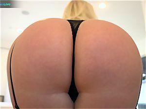 hot blond Angel Vain epic cumshot after rectal