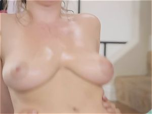 Danny glides his chisel into the culo of yoga babe Lena Paul