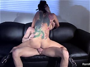sumptuous Romi Rain taunts and then gets smashed stiff