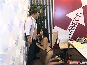 Ariana Marie at her daddys work getting ravaged in his office