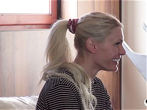 HER restrict - rough assfuck penetrate with super-fucking-hot Russian honey