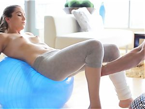 Kasey Warner takes off off her yoga pants and pounds