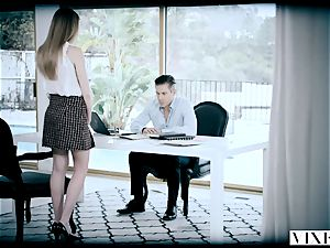 VIXEN kinky secretary Gets bound Up and nailed By Her boss