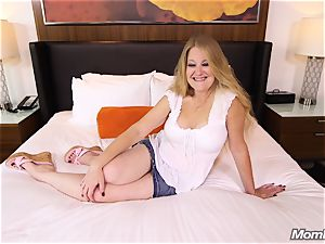 huge-chested Pierced Mature milf smashes man