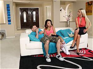 Alina Li shares her man with super hot mother Nikki Benz