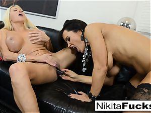 super-steamy Russian Nikita Von James penetrates porno legend Lisa Ann
