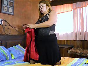 LatinChili huge-titted Mature Karina Solo onanism