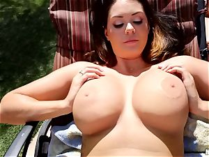 Alison Tyler caught on spycam from above