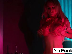 Alix Lynx with a bootie plug