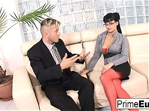 Aletta Ocean gets anally boned on the couch