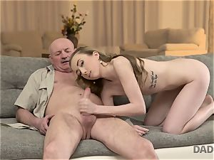 DADDY4K. fuckfest of dad and youthfull girl concludes with unexpected internal ejaculation