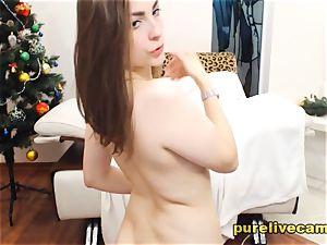 horny ash-blonde unsheathing Studded nipples