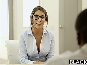 BLACKED August Ames Gets An interracial internal ejaculation