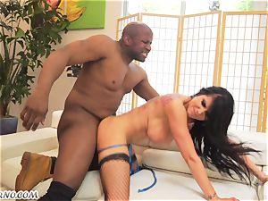 Luxury mega-bitch with a gigantic bum wants her plumbing fuckholes by black fellow