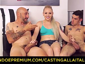CASTNG ALLA ITALIANA - blondie vixen rough double penetration romp