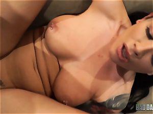 jism craving Katrina Jade beaten in her taut vag by stepfather